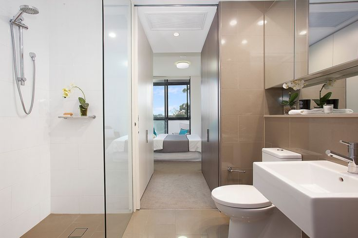 'The Gantry', chic two-way ensuite with large shower, Pilcher Residential