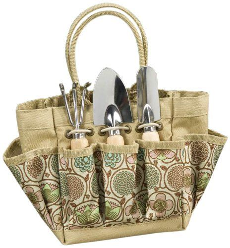 Beautiful Gift Craft Patio Garden Tool Set With Canvas Tool Bag