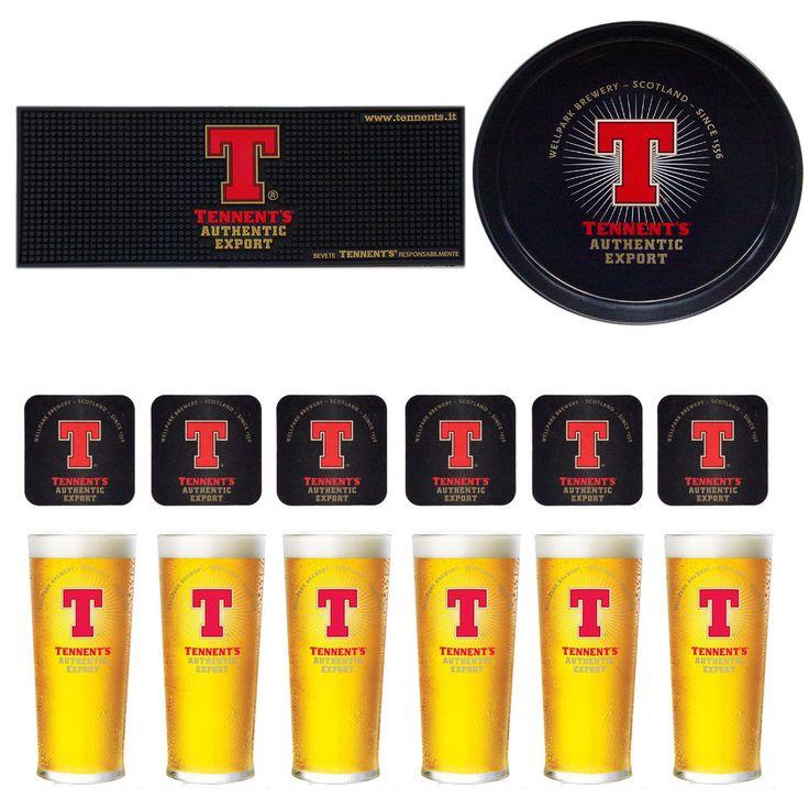 € 31,99 Set Birra Tennent's Export Bicchieri Sottobicchieri Bar mat Vassoio pub Scozia  Vedi altro su: http://stores.ebay.it/BEERBAZAR