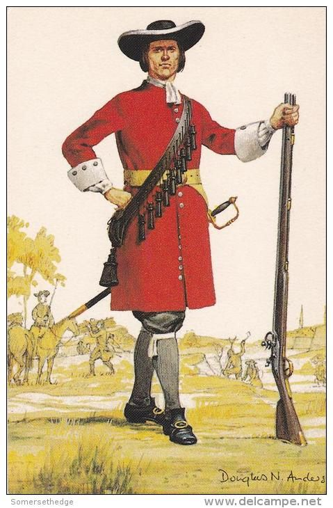 British; The Royal Regiment of Foot, Musketeer 1689 by Douglas N.Anderson