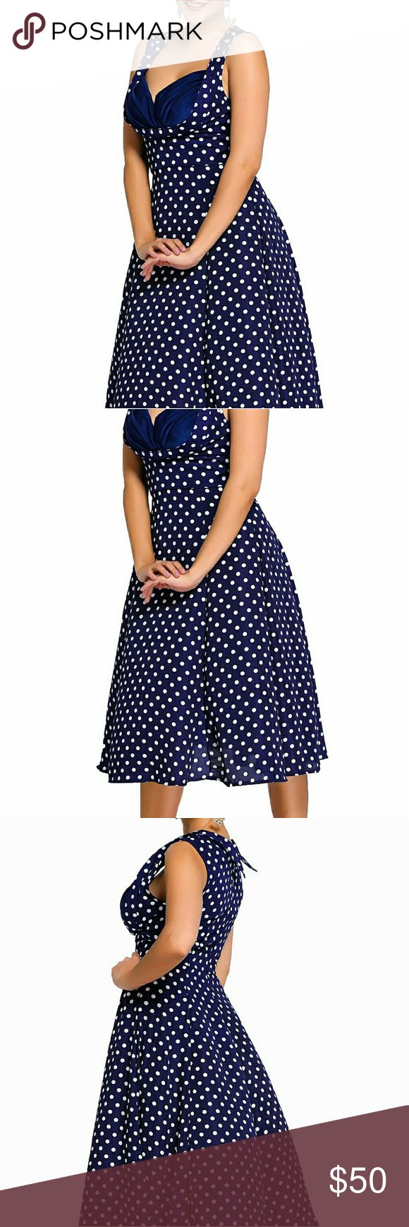 Retro Polka Dot Dress This elegant Vintage dress shows fellow dance hall attendees you've got style. With it's chic sweetheart neck, carefully...
