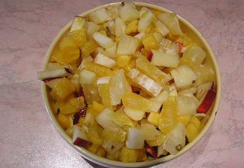 Salad of bananas and oranges (Салат из банана и апельсина)