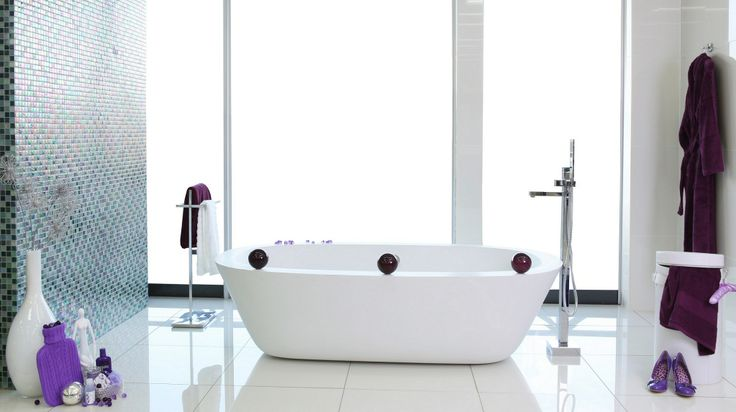 For a contemporary look choose a #modern oval free-standing #bath