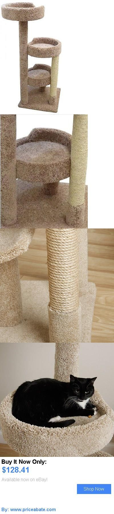 Animals Cats: Cat Tree Condo 3 Levels Of Perches Sisal Scratching Post Pet Furniture Kitty Bed BUY IT NOW ONLY: $128.41 #priceabateAnimalsCats OR #priceabate