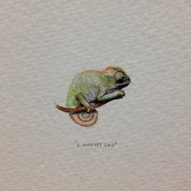 Day 218 : Trapsuutjies. 20 x 15 mm. #365paintingsforants #miniature #watercolor…
