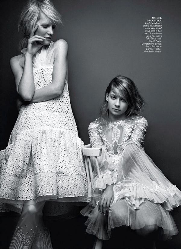Mother Daughter Duo Kirsten & Billy Rose Owen By Andrew Soule For Flare May 2013 The CoolInheritance - 3 Sensual Fashion Editorials | Art Exhibits - Anne of Carversville Women's News