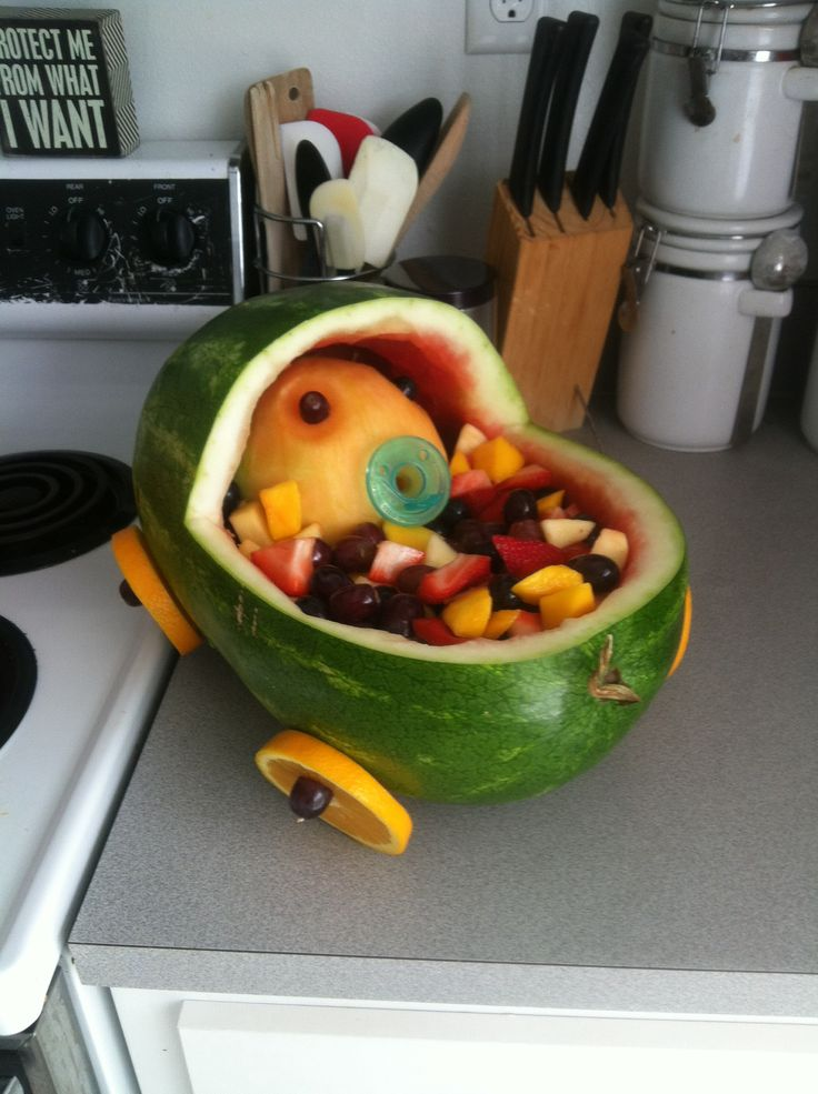 Fruit bassinet for my sister in law's baby shower.