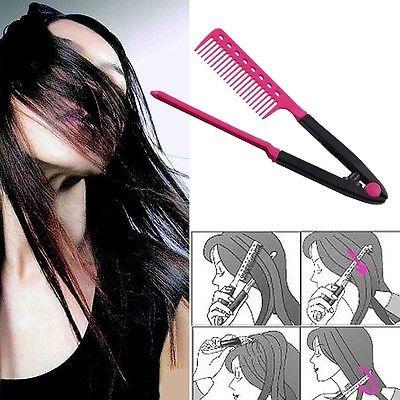 High Quality Fold V Comb Hair Straightener Hair Salon Straightening Brush Tops