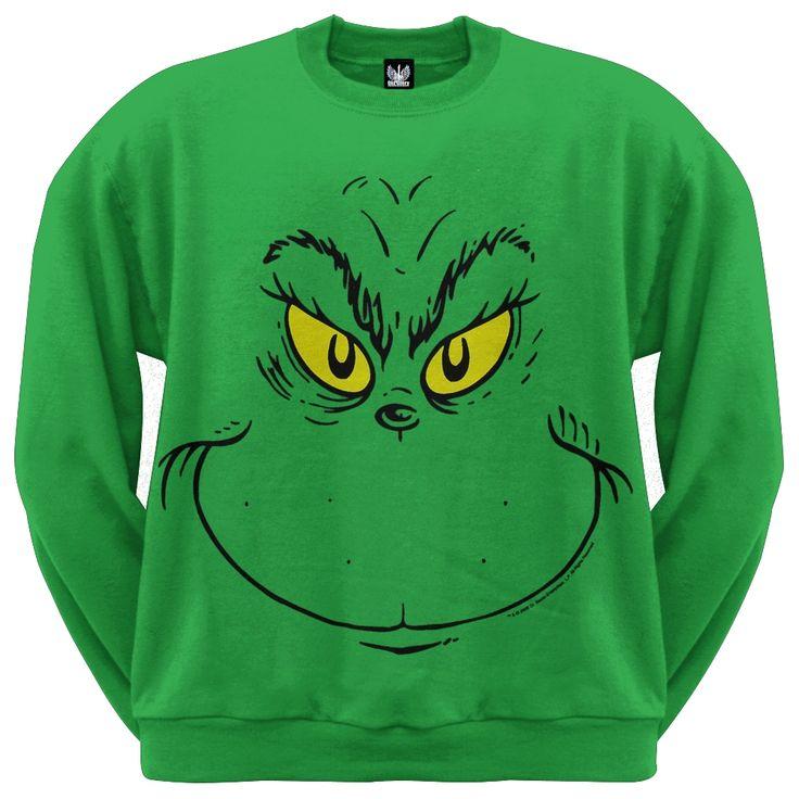 Grinch Sweatshirt merchandise at GrinchMania.com