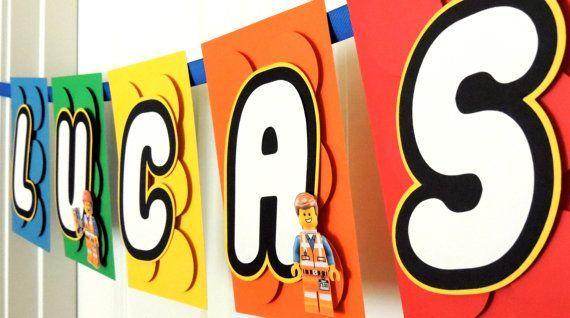 Den eigenen Namen in der LEGO-Schrift als Girlande...