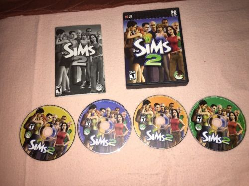The Sims 2 PC Game 2005 Windows Computer EA Games 4 Discs Ships Immediately!