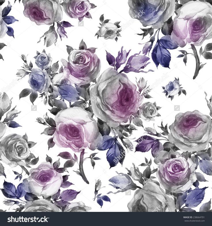 Seamless pattern bouquets of roses-6