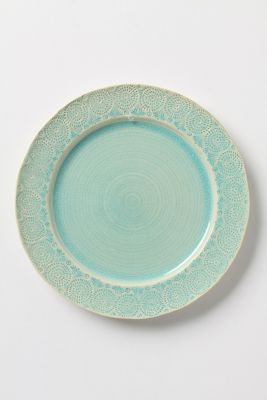 Assiette turquoise !