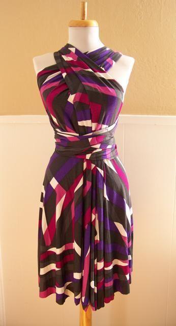 Infinity Wrap Dress Sewing Pattern