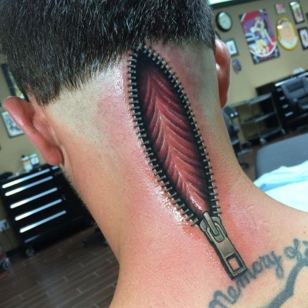 16 Uncanny Zipper Tattoos