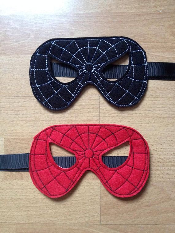 Spiderman mask party favors by 2craftysistersshop on Etsy
