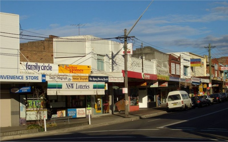 Kingsgrove Shopping Centre, along Kingsgrove Road