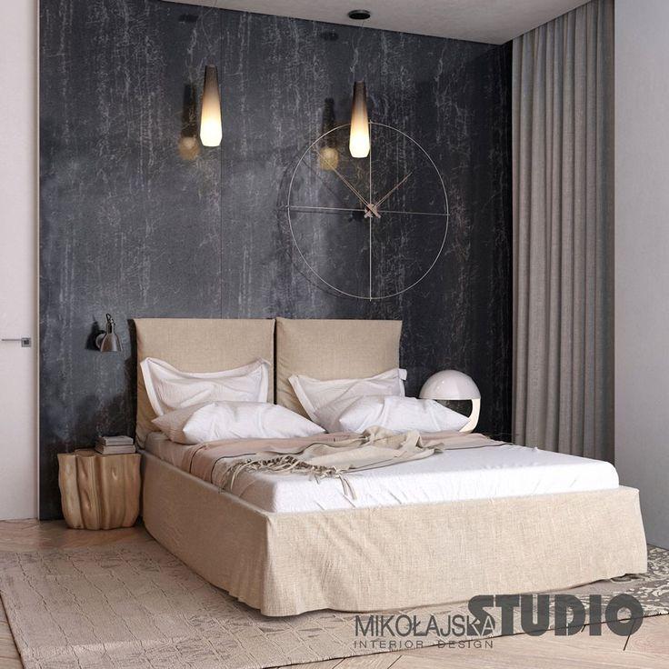 Prosta, nowoczesna sypialnia w drewnie