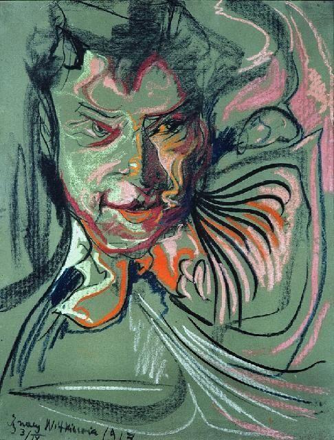 obraz Portret męski - Stanisław Ignacy Witkiewicz Witkacy - zdjęcie