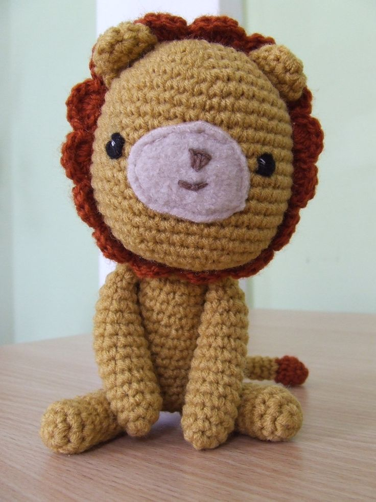 Amigurumi Lion Free : 108 best images about amigurumi lions and tigers on ...