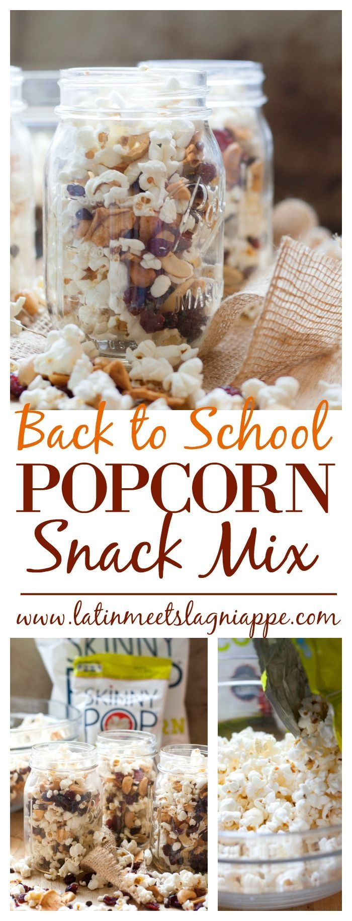Love this Back to School Popcorn Snack Mix! A perfect lunchbox treat! #ad #SkinnyPopB2S