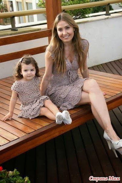 entretejiendo la vida: Cuando madre e hija deciden vestir igual....
