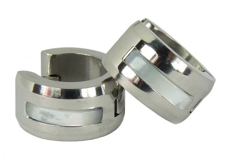 Náušnice chirurgická nerez ocel jeden pruh 32807-2 | Bižuterie Kozák