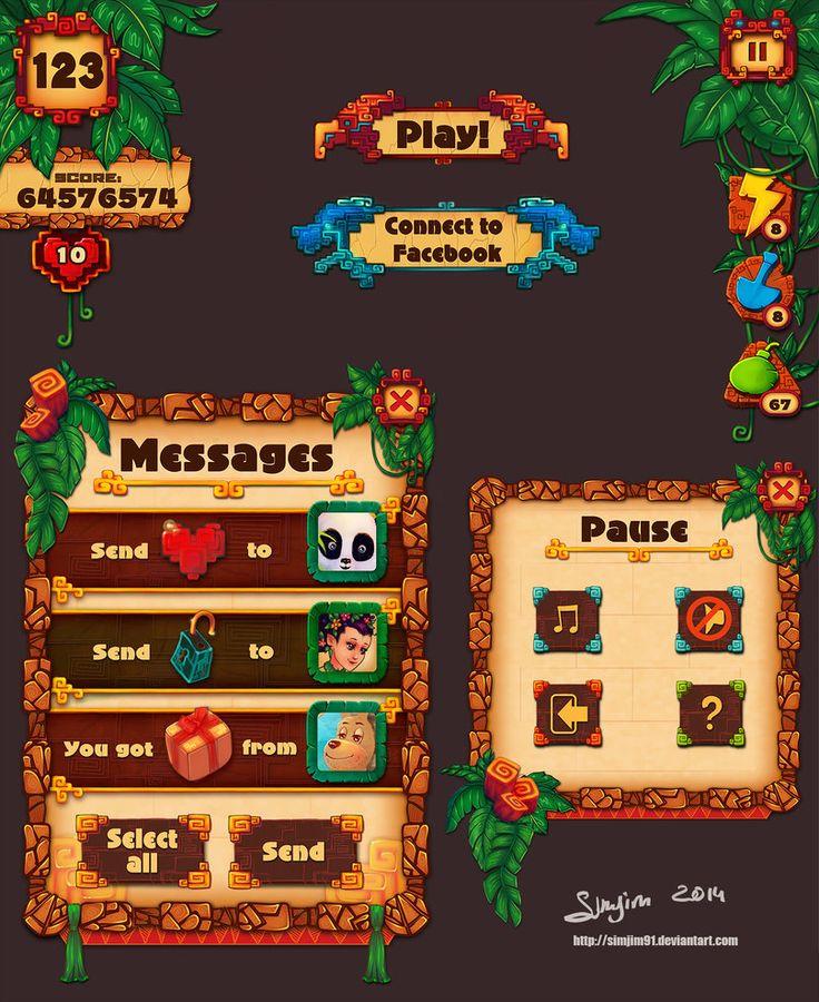 Game UI design 3 by Simjim91 on DeviantArt