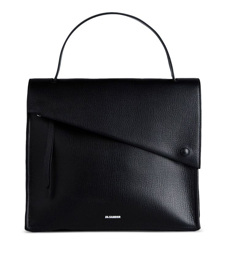 Jil Sander Black Leather Tote