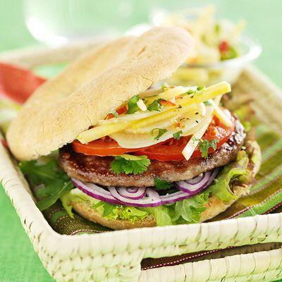Bild på Hamburgerbröd med dinkel