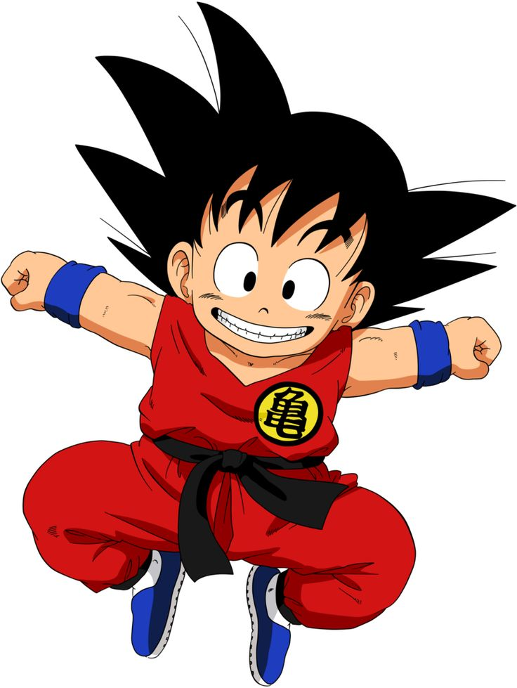 Goku hasn't changed in any way personality wise since he was a child. Description from screwattack.com. I searched for this on bing.com/images