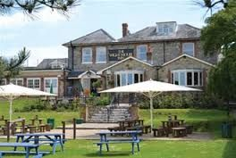 White Mouse Inn, Chale.  Family friendly pub close to Blackgang Chine with lovely garden which has views of the Needles and a good children's play area.  Good food too!