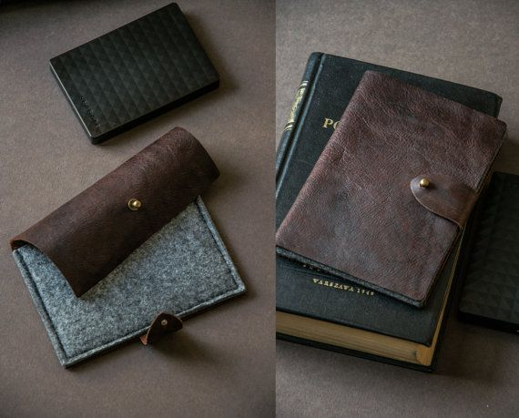 HDD Case made to measure  vintage Leather by BRIGHTfeltANDleather
