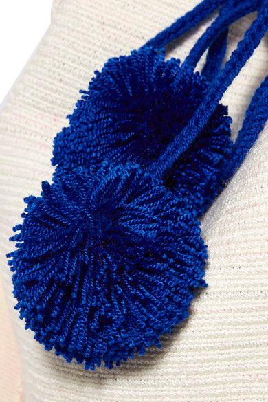 Sophie Anderson - Lilla Pompom-embellished Crocheted Shoulder Bag - Cream - one size