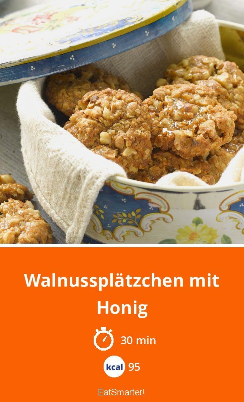 Walnussplätzchen mit Honig
