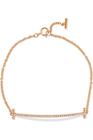 Tiffany & Co - T Smile 18-karat Rose Gold Diamond Bracelet - S