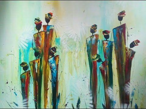 Painting abstract figures, abstrakte Figuren malen – YouTube