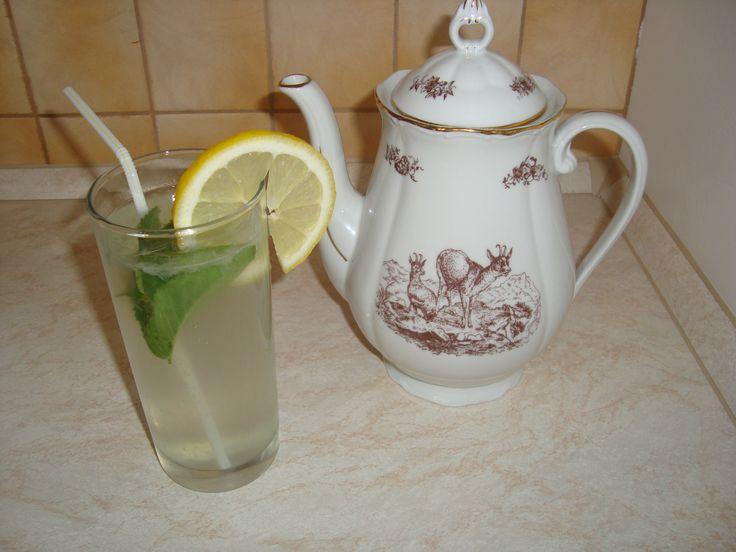 domáca citrónová limonáda, citronáda recept, osviežujúca letná citrónová limonáda s mätou a medom, zdravá citrónová limonáda bez cukru