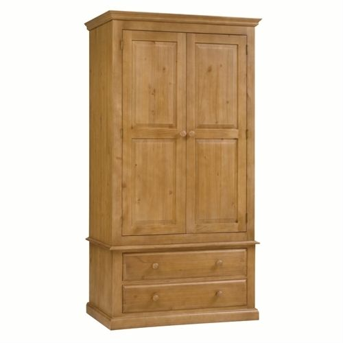 Cheshire Pine Gents Double Wardrobe including free delivery (240.015) | Pine Solutions