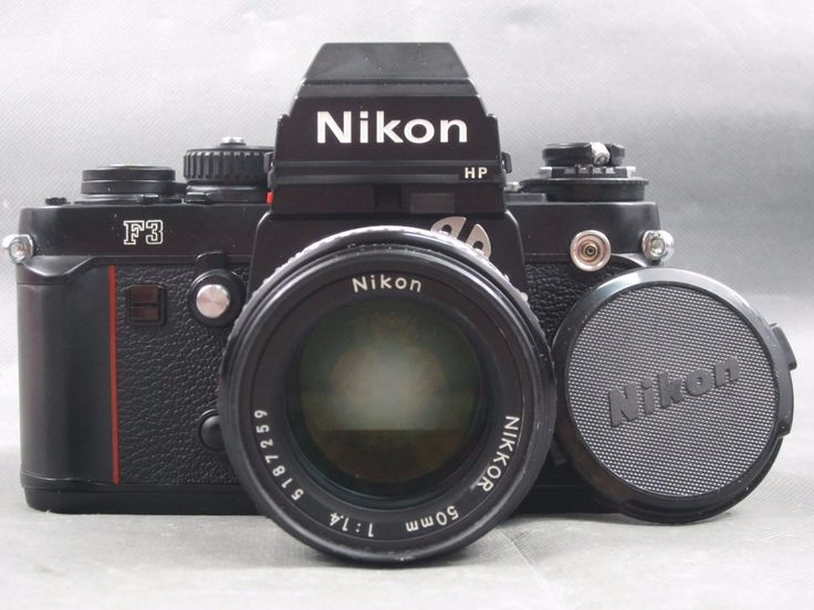 Vintage Nikon F3 HP Film SLR Camera Body & 50mm 1:1.4 NIKKOR Lens. Both items show some light wear from use and are not physically damaged. The camera... #nikkor #lens #bundle #body #camera #nikon #film #vintage