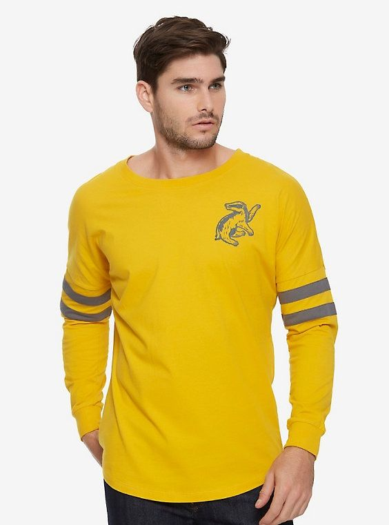 c8c85f7e47a Harry Potter Hufflepuff Hype Jersey - BoxLunch Exclusive, YELLOW, hi-res