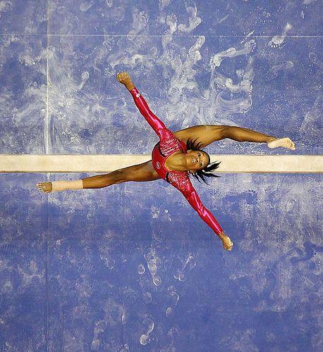 Gabby Douglas and the London Olympics 2012 on the High Beam