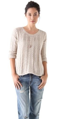 cozy @splendidla tahoe cable knit sweater #fall @Shopbop