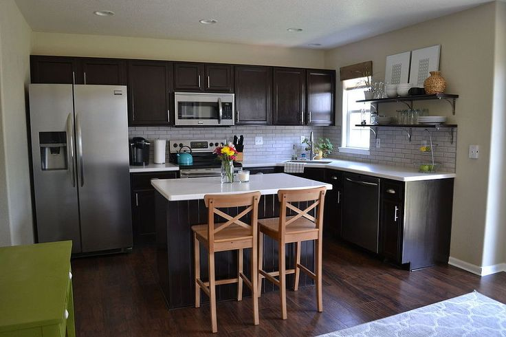 Kitchen Reveal - Dark Cabinets, Light Counters