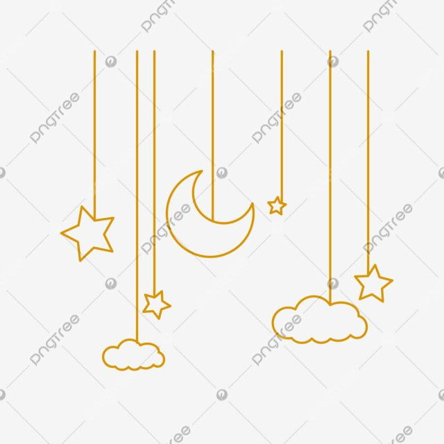 Hanging Cute Moon Stars White Clouds Moon And Stars Clipart Charm Png And Vector With Transparent Background For Free Download Star Clipart White Clouds Stars And Moon