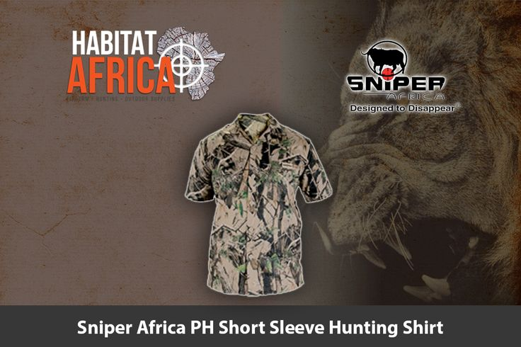 The Sniper Africa PH short sleeve hunting shirt is designed to offer the hunter…
