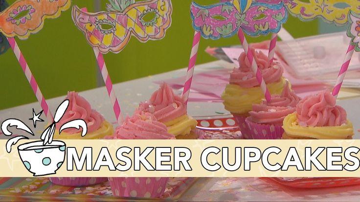 Jill Recept: Carnaval CupCakes Met Eetbaar Masker