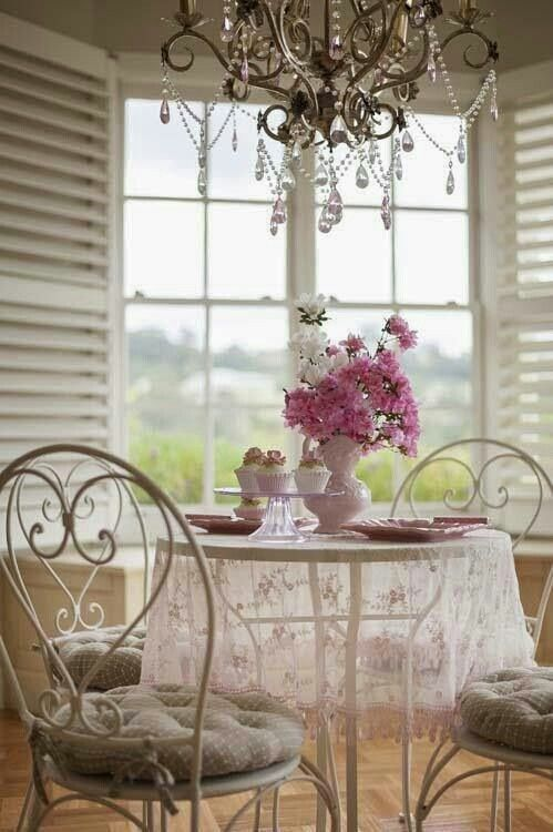 light & airy <3  ~flip through Victoria Magazine over morning coffee & muffin ~Susan