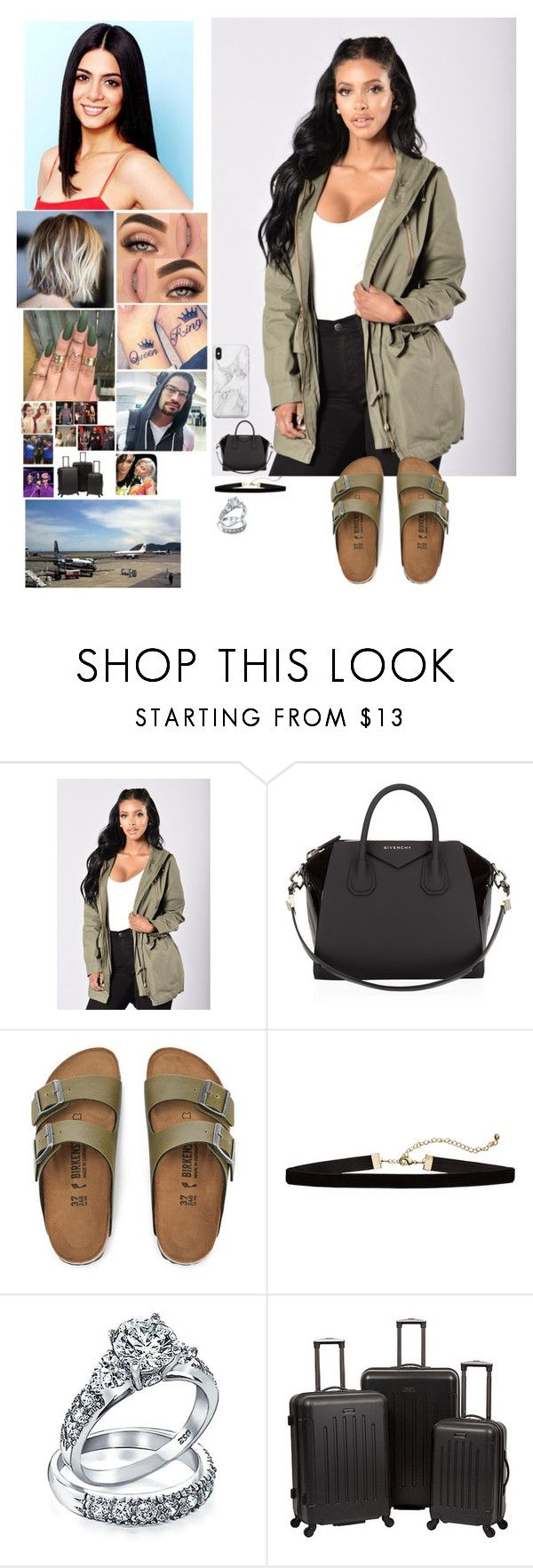 """Dani Bella and Joe flying to The Bahamas for their wedding with their very good friends"" by safia4life ❤ liked on Polyvore featuring Givenchy, Birkenstock, Bling Jewelry, CENA, WWE and Recover"