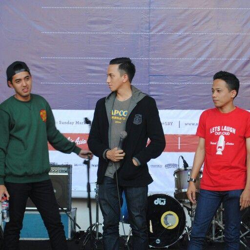 3 komika indonesia dari kiri kemal palevi, ge pamungkas, muhadkly acho
